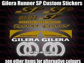 Gilera Runner SP CUSTOM Sticker Decal Set FX FXR 125 172 180 183 GOLD